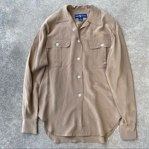 Ralph Lauren Silk Button Down Shirt 2
